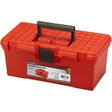 walmart tool box. flat top tool box, red walmart box r