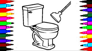 Coloring Pages Bathroom For Kids L Bathtub Drawing Pages L Videos