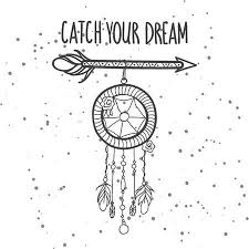 Dream Catcher Phrases Custom Tribal Arrow With Feathers Jewelry And Phrase Catch Your Dream