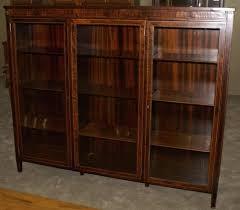 glass door bookshelves antique with doors for bookcase prepare 4