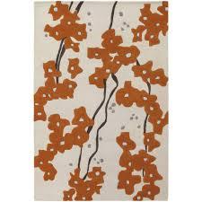 chandra inhabit white brown orange 5 ft x 8 ft indoor area