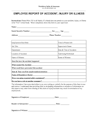 Employee Incident Report Template Fill Online Printable
