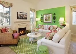 elegant use of green in the modern living room design borden interiors ociates