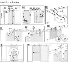 wonderful install sliding barn door how to hardware design for plan 0 glass screen closet patio