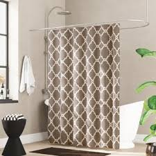 Beige shower curtains Solid Thea Single Shower Curtain Birch Lane Shower Curtains Birch Lane