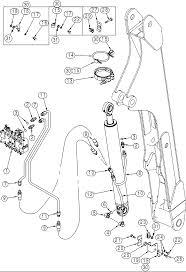 Case 90xt hydraulics hydraulic system backhoe boom cylinder