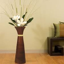 Amazon.com: Green Floral Crafts 28 in. PLantation Bamboo Floor Vase - Brown  with DIY Kit Magnolias: Home & Kitchen