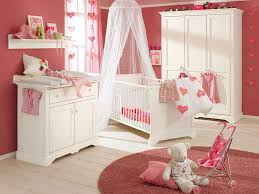baby nursery ideas for baby girl with white furnitures and pink wall paint colors baby girl nursery furniture