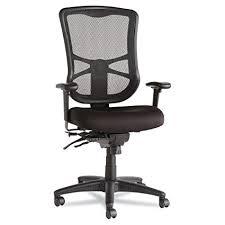 Alera ALEEL41ME10B Elusion Series Mesh High-Back Multifunction Chair, Black