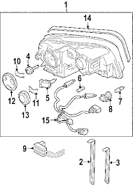parts com® volvo xc90 headlamp components oem parts diagrams 2008 volvo xc90 v8 sport v8 4 4 liter gas headlamp components