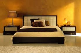 Glorious Master Size Platform Bed Added Small Nightstands Also Brown Solid  Wall Painted As Cool Best Colors For Bedrooms In Small Space Master Bedroom  ...