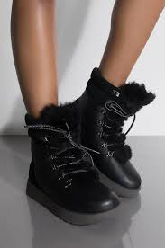 front view ugg womens viki waterproof arctic grip boots in black