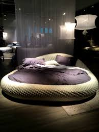 BedroomArchaiccomely The Controversial Round Beds A Bold Statement Or An  Unpractical Big Circle Grey Bed Purple