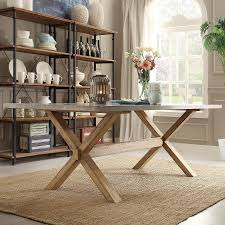 Image of: Contemporary Zinc Top Dining Table