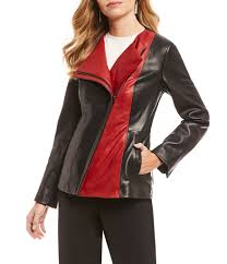 red women s leather faux leather coats