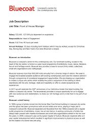 Music Manager Job Description Job Description