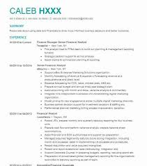 Gallery Of Best Financial Analyst Resume Example Livecareer