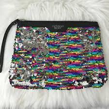 victoria secret sequin cosmetic bag ebay
