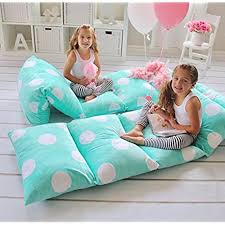 Heart To Heart GIRLu0027S FLOOR LOUNGER SEATS COVER AND PILLOW COVER   PERFECT  READING AND WATCHING TV CUSHION   GREAT FOR SLEEPOVERS AND SLUMBER PARTIES
