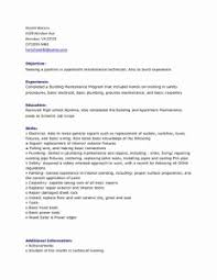 Apartment Maintenance Technician Resumes Sample Resume For Maintenance Worker Inspirational Simple