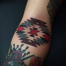 navajo tattoo designs. Navajo Inner Elbow Tattoo Made For, Chad. Designs J