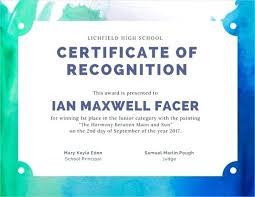 Principal Award Certificate Art Contest Award Certificate How To Make An Certificates
