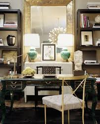 gold celadon green chic office design chic office desk