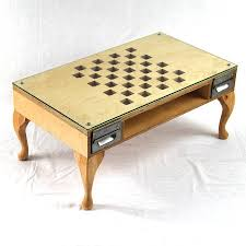 cut out chess coffee table