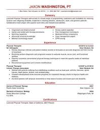 Physical Therapy Resume Delectable Best Physical Therapist Resume Example LiveCareer