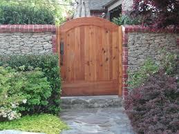 arched copper top wood garden gates info tulsagate com 918 838 3349