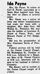 Ida Payne Obit - mother of Alice Grey - Newspapers.com