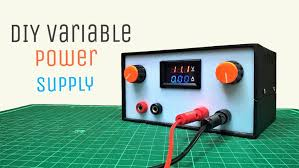 picture of diy variable power supply with adjule voltage and cur