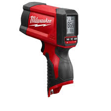 home depot hand tools. m12 lithium-ion laser temperature gun infrared 12:1 thermometer home depot hand tools