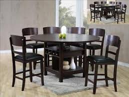 dining table set with lazy susan. image is loading new-susanna-7-pc-counter-height-espresso-dining- dining table set with lazy susan u