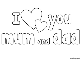 Small Picture i love you mom coloring pages awesome i love you mom coloring