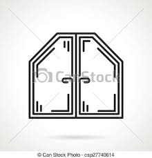 attic clipart black and white. Wonderful Black Attic Window Black Line Vector Icon Intended Clipart And White S