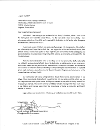 Letters Of Support For Ricky Sanchez
