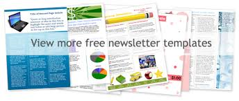 Free Newsletter Layout Templates Adorable Free Templates For A Newsletter Layout Hiyaablog