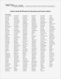 Action Verbs For Resume Inspirational New Action Verbs For Resume