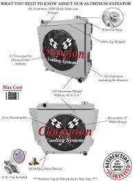 jeep wrangler yj chevy v8 conv radiator 4 row champion shroud click thumbnails to enlarge