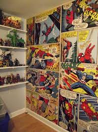 comic book wall display dc comics bedroom decor coma studio comic book wall display ideas