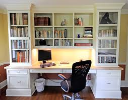 built home office desk builtinbetter. white custom bookshelves with desk and drawers cabinet also black swivel office chair on wood floor design cool for your home built builtinbetter