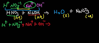 hno3 naoh balanced molecular complete total and net ionic equation