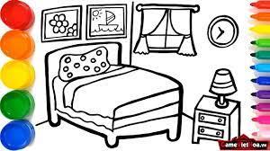 1 : Tranh tô màu đồ dùng trong gia đình cho các bé tập tô màu