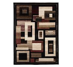 picture of diamond black area rug