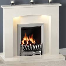 isabelle marble fireplace with gas or electric fire