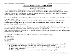 The Puffed Up Pig Reading Comprehension 3rd - 5th Grade Worksheet ...The Puffed Up Pig Reading Comprehension 3rd - 5th Grade Worksheet | Lesson Planet