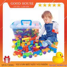 Báo giá Bộ đồ chơi xếp hình lắp ghép phát triển trí tuệ loại 100, 256, 500  chi tiết tùy chọn - Đồ chơi trí tuệ Cho Bé chỉ 95.000₫