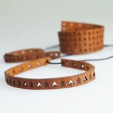 laser cutting leather bracelet