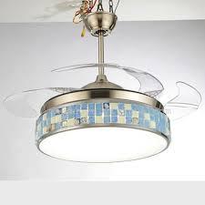 42 inch crystal stealth fan chandelier with light ceiling fan led ceiling fan 9020